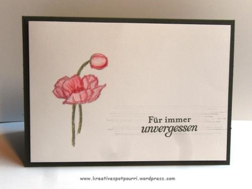 """Trauerkarte """"Für immer unvergessen"""""""