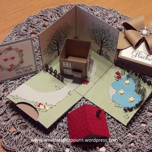 www.kreativespotpourri.wordpress.com - Hausbauzuschuss zur Hochzeit in der Box - Explosionbox
