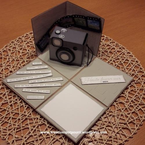 www.kreativespotpourri.wordpress.com - Explosionbox - Geldgeschenk für einen Mann - Kamera-Zuschuss - made with love and Stampin`Up!